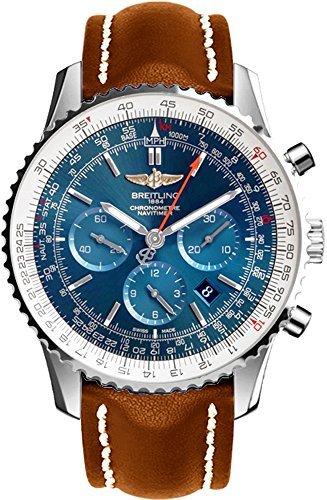 breitling navitimer 01 edelstahl auf braun lederband herren armbanduhr ab012721 c889 443 x - Breitling Navitimer 01Edelstahl auf braun Lederband Herren-Armbanduhr ab012721/C889–443x