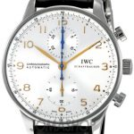 IWC IWC Portugiesisch Silber Zifferblatt Chronograph Mechanische Mens Watch 3714-45