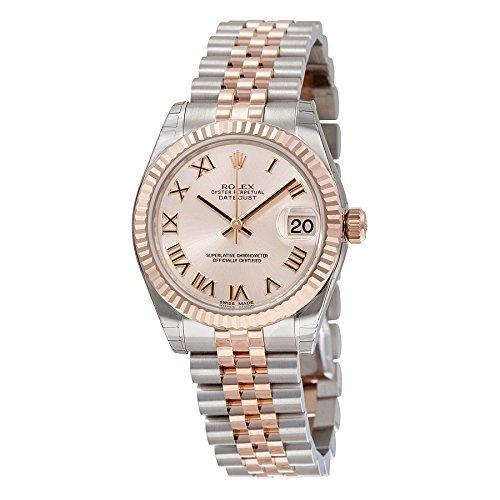rolex 178271prj datejust armbanduhr fuer damen pink roemisches zifferblatt aus stahl und 18 karat rosegold - Rolex 178271PRJ Datejust Armbanduhr für Damen, Pink, Römisches Zifferblatt, aus Stahl und 18Karat Roségold