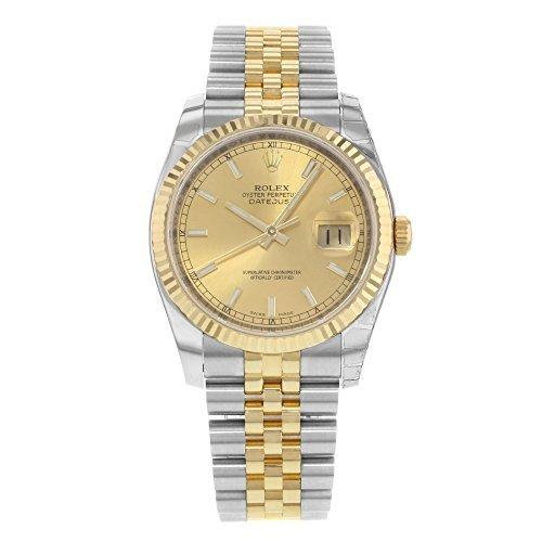 rolex datejust setzt 116233 chsj stahl 18 k gelb gold automatische herren armbanduhr - Rolex Datejust setzt 116233chsj Stahl & 18K Gelb Gold automatische Herren-Armbanduhr